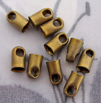 30 pcs. raw brass chain end caps 4mm opening - f2838