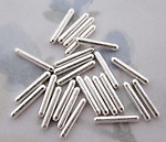 75 pcs. liquid silver plated tube beads 9x1.5mm - f2869