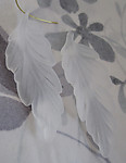 6 pcs. frosted clear lucite leaf charms 65x22mm - f2975