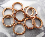 30 pcs. raw brass thick 9mm jump rings - f4200