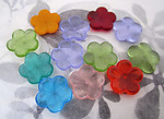 12 pcs. glass XLarge assorted flower beads 20x4mm - f4241
