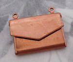 4 pcs. copper coated envelope locket pendant charms 19x14mm - f4291