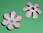 6 pcs. cold enamel steel pink flower stampings 16mm - f2141