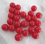 75 pcs. red plastic no hole balls 8mm - f4386