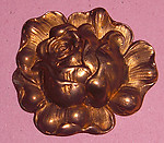 2 pcs. raw brass rose flower stampings - f1897