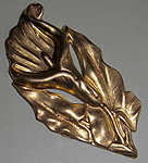 2 pcs. raw brass lily flower stampings - f1899