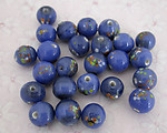 25 pcs. glass blue confetti beads 8mm - f2690
