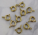 30 pcs. gold tone spring ring clasps 6mm - f3180