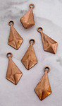 18 pcs. copper coated diamond kite stamping charms 13x7mm - f3214