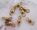 24 pcs. brass bead connector charms 4mm - f3227