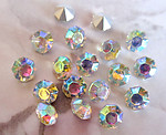 50 pcs. Czech glass Preciosa TTC table tin cut clear AB rhinestones ss28 - f3252