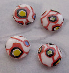 12 pcs. porcelain print mid century modern abstract flat back cabochons 7mm - f3275