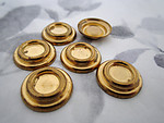 18 pcs. raw brass settings for a 7mm flat back cabochon - f3501