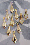 30 pcs. gold tone dagger drop charms 13x6mm - f3839