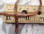 5 feet raw brass flat braided look chain 4x1.5mm wide - f4012