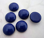 18 pcs. glass cobalt blue flat back cabochons 11mm - f4544