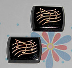 4 pcs. glass music musical intaglio cabochons 15x12mm - f1920