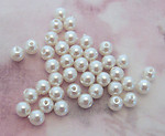 120 pcs. faux pearl plastic beads 4mm - f2281
