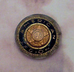 glass american legion reverse painted intaglio cabochon 13mm - f2300