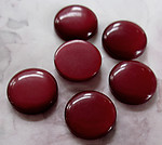 18 pcs. red nylon flat back cabochons 14mm - f3068