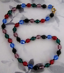 multi colored faceted bead necklace - j6001