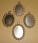 10 pcs. raw brass cabochon settings 18x13mm - f1266