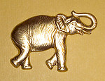 3 pcs. Raw brass elephant stampings - f1273