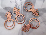 12 pcs. copper coated charms chandelier earring findings charms 26x14mm - f4340
