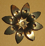 3 pcs. raw brass flower stampings - f1766