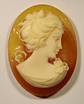 6 pcs. resin carnelian cameo cabochon 40x30mm - f1679
