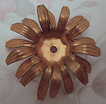 copper coated 3D flower stamping 40mm - f2592