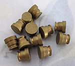 12 pcs. solid raw brass turned findings 6x6mm - f4130