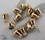 36 pcs. gold tone earring clutches - f4155