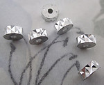 18 pcs. silver tone aluminum diamond cut rondelle beads 6x2mm - f4166