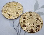 4 pcs. raw brass stampings 29mm - f4178