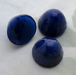 9 pcs. glass faux lapis blue high dome flat back cabochons 10mm - d131
