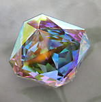 Swarovski art 4675 MCC machine cut crystal AB square octagon chunky foiled rhinestone 23mm - d141