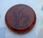 glass reverse painted intaglio Cupid Eros love god cabochon 21mm - d268