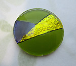 glass reverse painted cabochon 20mm - d276