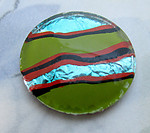 glass reverse painted cabochon 20mm - d277