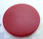 tested bakelite red flat disk cabochon 37x3mm - d307