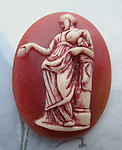 2 pcs. resin Greek goddess cameo relief flat back cabochons 40x30mm - d317