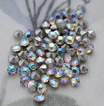 200 pcs. glass TCC table tin cut tiny AB clear rhinestones ss8 - d88