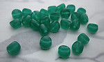 50 pcs. glass chrysoprase green dimpled beads 6mm - f3715
