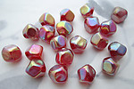 20 pcs. glass red AB beads 10mm - f3721
