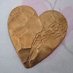 2 pcs. aw brass textured heart stampings 40x37mm - f4575