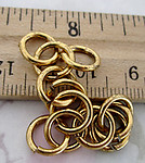 36 pcs. raw brass jump rings findings - f4625