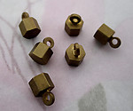 18 pcs. raw brass solid casted brass hexigon charms 4x4mm - f4633