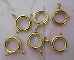 18 pcs. gold tone large spring ring clasps 12mm - f4696