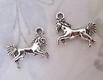 4 pcs. casted pewter horse charms 20x15mm - f4921